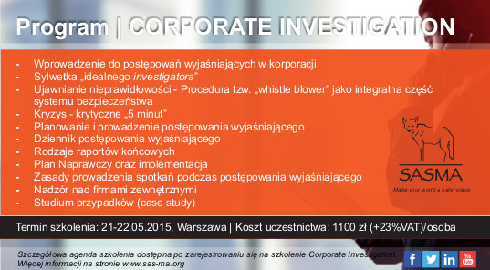 corporate investigation short folder